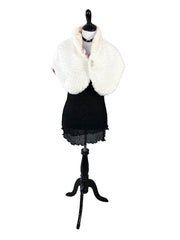 Faux Rabbit and Mink Fur Cape with Pink Design Interior - paulamariecollection