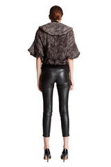 THE FERNIE Knitted Mink Ruffle Bolero - paulamariecollection