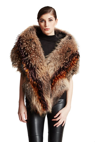 THE MUNSTER Oversize Multi Color Raccoon Shrug - paulamariecollection