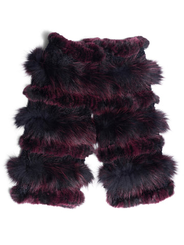 Fox Fur and Rex Rabbit Boot Cover/Leg Warmer - paulamariecollection