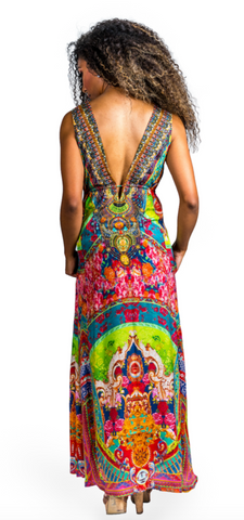 Zimbabwe Long Maxi Dress With Pockets - paulamariecollection