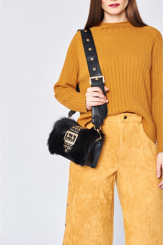 Fox Fur and Real Leather Bag - paulamariecollection