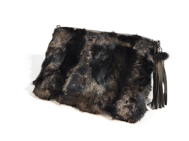Mink Wristlet with Leather Tassel - paulamarie