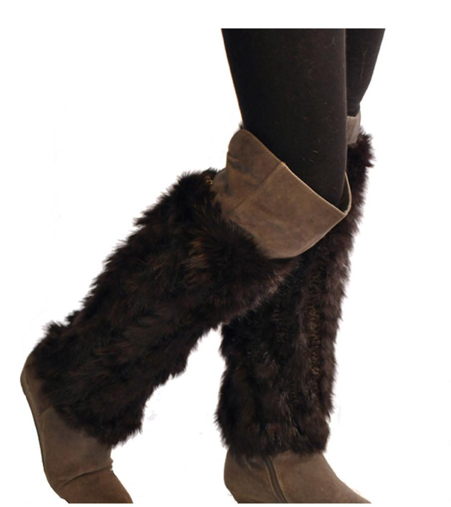 Knitted Rex Rabbit Boot Cover/Leg Warmer - paulamarie