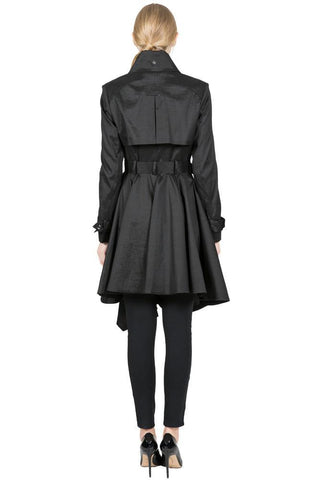 THE LUCKA Microfabric Trench Rain Coat with Waist Belt - paulamariecollection