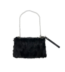 Black Mink Fur Handbag - paulamariecollection