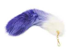 Purple and White Clip-on Fox Tail - paulamariecollection