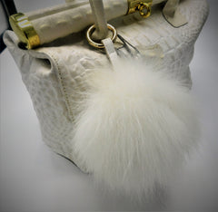 Fluffy Fox Fur Pom Keychain - paulamariecollection