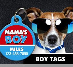 Boy Pet ID Tags