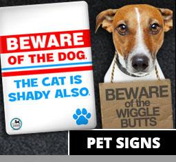 Pet Signs - Aw Paws