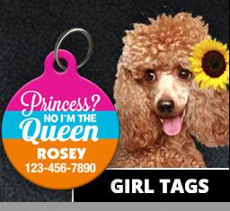 Girl Pet ID Tags