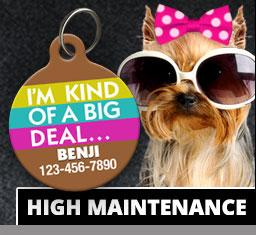 High Maintenance Pet ID Tags