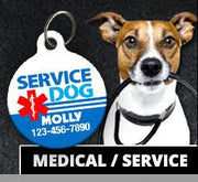 Medical / Service PET ID Tags