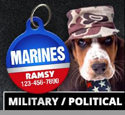 Military / Political Pet ID Tags