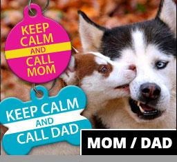 Mom / Dad Pet ID Tags - Aw Paws