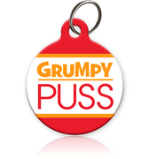 Grumpy Puss Cat ID Tag - Aw Paws