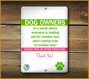 PLEASE PICK UP AFTER YOUR DOG SIGN - Aw Paws
