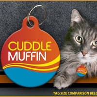 Cuddle Muffin Cat ID Tag - Aw Paws