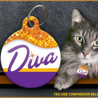 Diva Cat ID Tag - Aw Paws