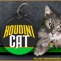 Houdini Cat Cat ID Tag - Aw Paws