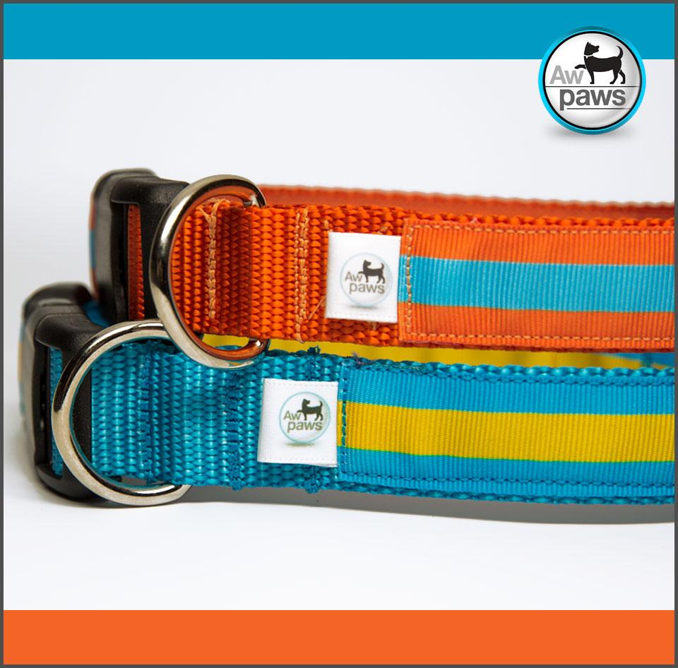 Stripes 1 Dog Collar - Aw Paws