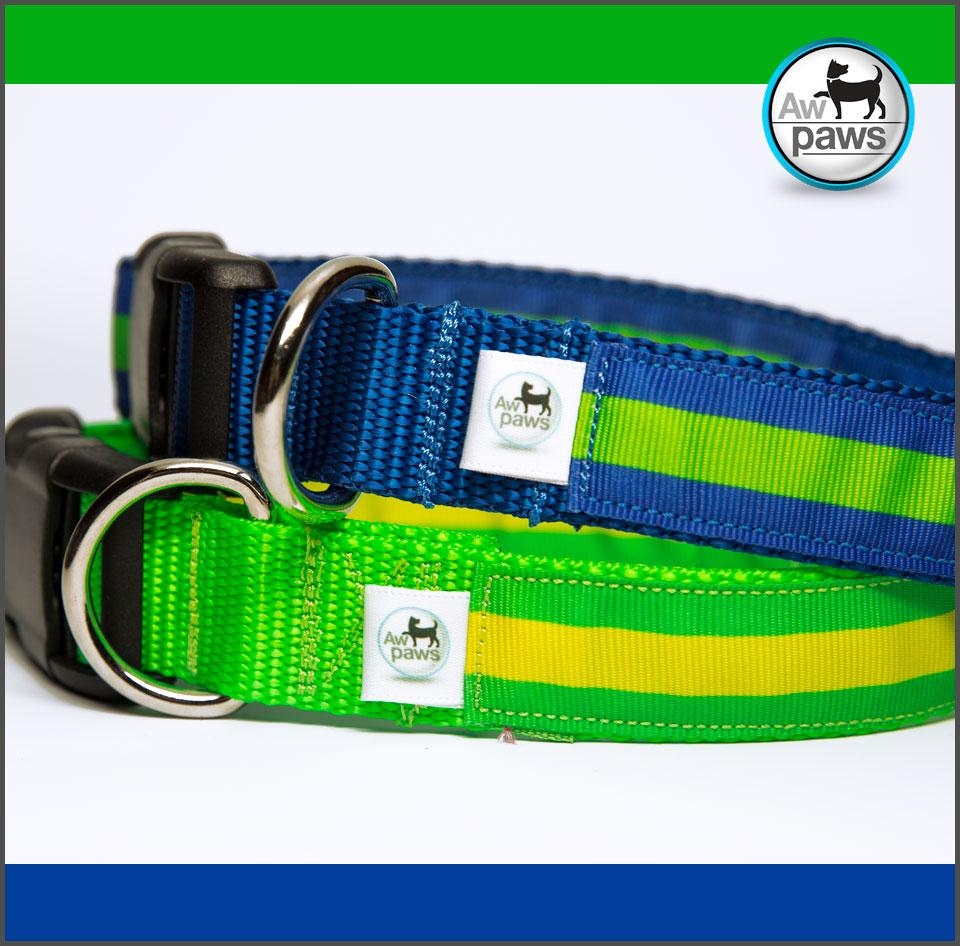 Stripes 2 Dog Collar - Aw Paws
