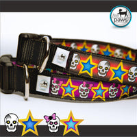 Skulls and Stars - Dog Collar