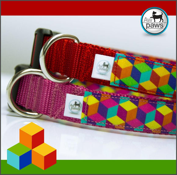 3D CUBES - Dog Collar