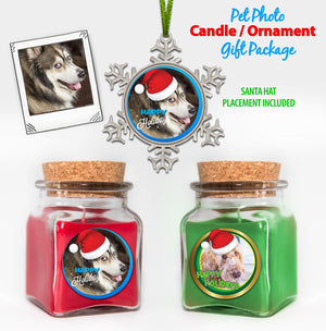 Photo Soy Candle / Ornament Package