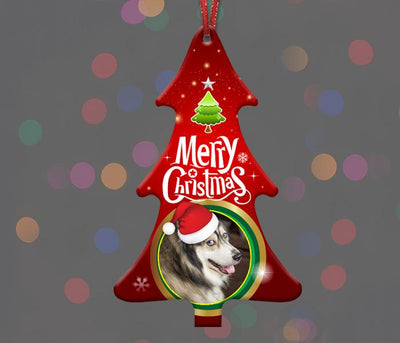 Xmas Tree Photo Ornament - Aw Paws