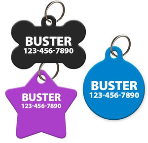 Plain Pet ID Tag for Dog or Cat | Various Sizes and Colors - Aw Paws