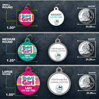Baby Girl Pet ID Tag