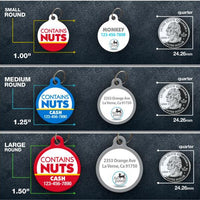 Contains Nuts Pet ID Tag - Aw Paws