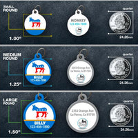 Democratic Donkey Pet ID Tag - Aw Paws