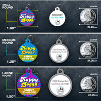 Happy Doggy Pet ID Tag - Aw Paws