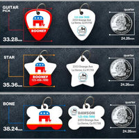 GOP Elephant Pet ID Tag - Aw Paws