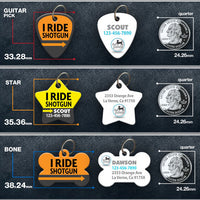 I Ride Shotgun Pet ID Tag