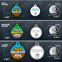 Chick Magnet Pet ID Tag - Aw Paws
