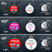 Medical Alert Pet ID Tag for dogs or cats