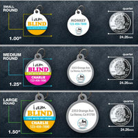 I Am Blind Pet ID Tag of cat or dog