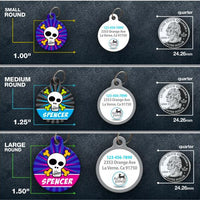 Skull Pet ID Tag - Aw Paws