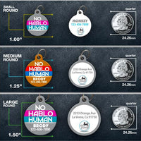 No Hablo Human Pet ID Tag - Aw Paws