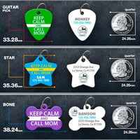 Keep Calm and Call Mom - Pet ID Tag