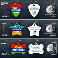 Little Menace Pet ID Tag - Aw Paws