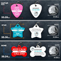 Keep Calm and Call Dad Pet ID Tag - Aw Paws