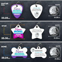 Super Model Pet ID Tag - Aw Paws