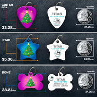 Xmas Tree Pet ID Tag - Aw Paws