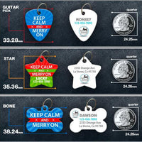 Keep Calm and Merry On Pet ID Tag - Aw Paws