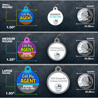 Call My Agent Pet ID Tag