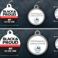 Black and Proud Pet ID Tag